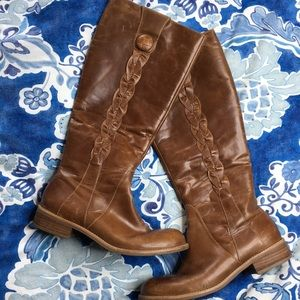 Schuler & sons Anthropologie braided tall boots 8